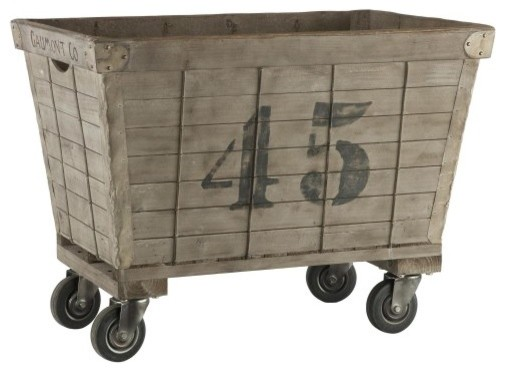 French Laundry Cart Rustic Hampers