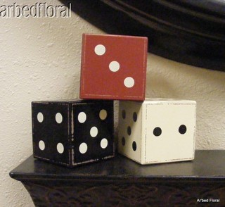 Wooden Dice, Primitive Colorings - Modern - Home Decor - by Bonanza