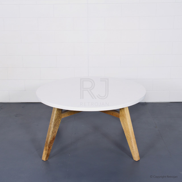 Danish Style Coffee Table: ANNIKA DANISH STYLE ROUND COFFEE TABLE