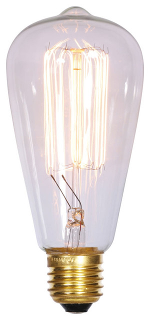 st64 clear edison e26 bulb 40 watt clear lights light bulbs by. Black Bedroom Furniture Sets. Home Design Ideas