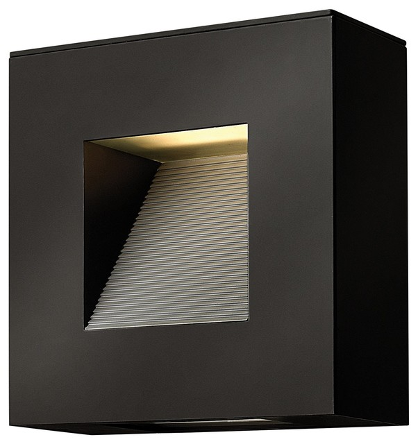 Hinkley Lighting Luna Contemporary Outdoor Wall Sconce, Small, Satin Black - Contemporary ...