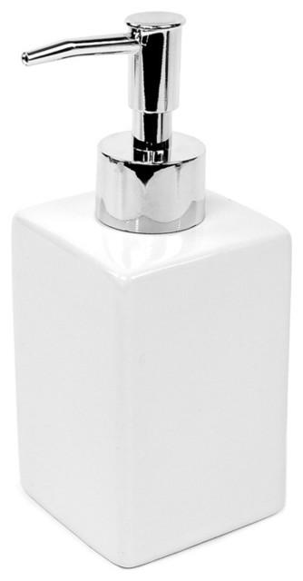 White Ceramic Soap Dispenser By Gedy Modern Bathroom