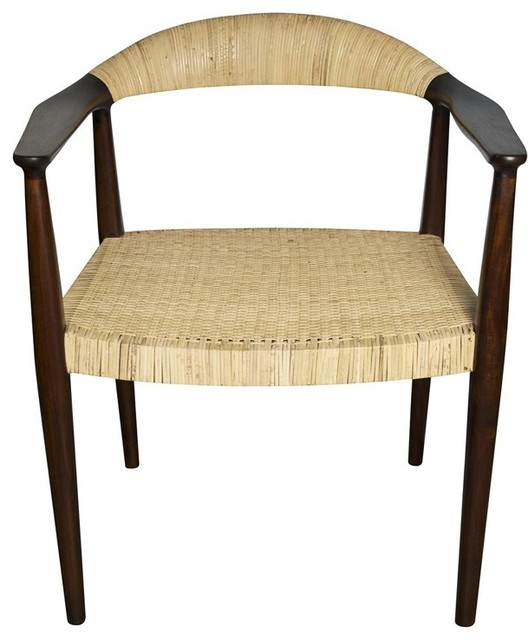 Noir Furniture Beale Arm Chair In Teak Oil Gcha223 Contemporary Armchairs Accent