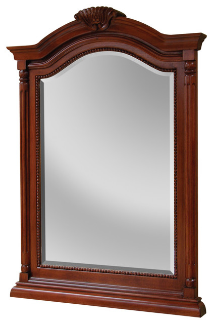 Wingate 26 Premium Deep Cherry Mirror Traditional Bathroom Mirrors By Foremost