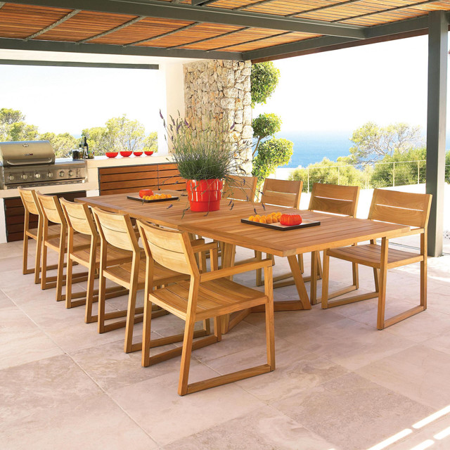 Outdoor Furniture Axis Collection By Gloster Modern Dining Tables Melbo