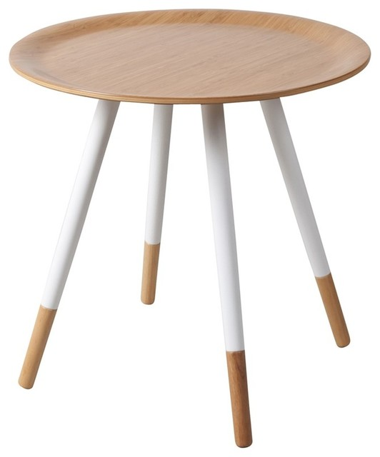Table basse bamboo disc blanche couleur blanc modern dining tables by d - Petite table basse blanche ...