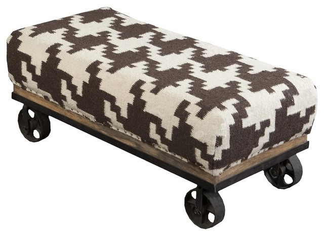 Chocolate And Ivory Houndstooth Foot Stool By Surya. Mid Century Modern Patio Furniture. Northwest Building Supply. Bunk Bed Ladder. Gold Wall Mirror. Signature Hardware Reviews. Linen Wallpaper. High End Kitchen. Home Office Furniture