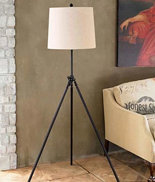 antique triangle and flax shade floor lamp farmhouse. Black Bedroom Furniture Sets. Home Design Ideas