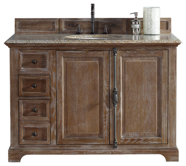 "Providence 48"" Single Vanity Cabinet, Driftwood - Farmhouse - Bathroom Vanities And Sink ..."
