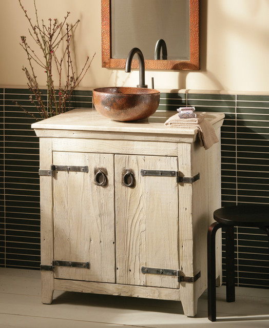 Native Trails 30 Americana Vanity In Whitewash Farmhouse Bathroom V