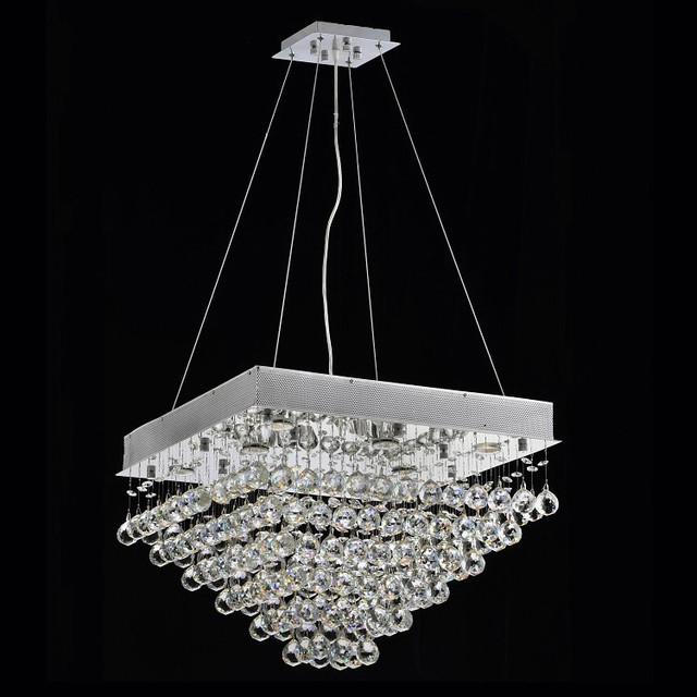 Yvette Crystal Chandelier: Courthouse Square Rain 8-light Chrome Crystal Chandelier