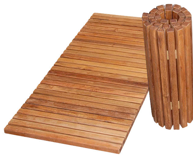 Teak folding shower mat tropical bath mats for Wood floor mat