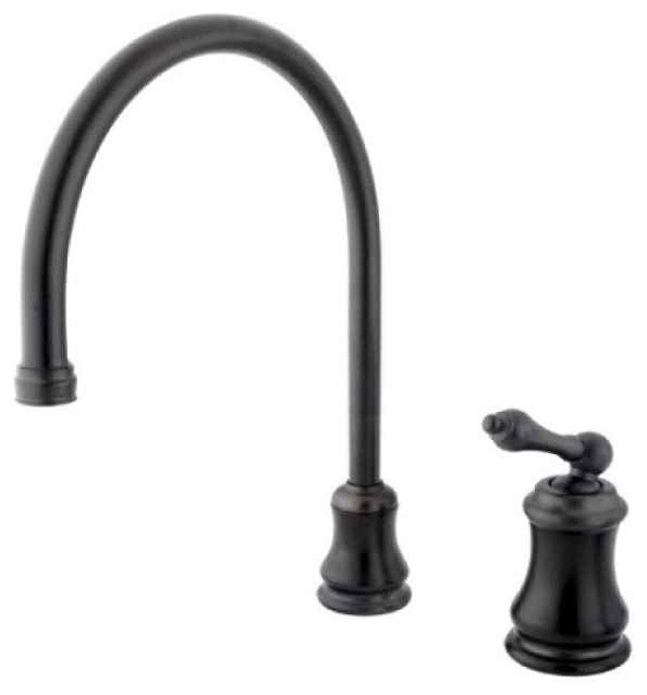 Single Handle Widespread Kitchen Faucet in Oil Rubbed