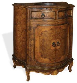 Traditional bathroom vanities and sink for Tuscan bathroom vanity cabinets