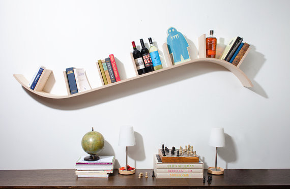 Modern Curved Bookshelf By Perfekte Velle Contemporary