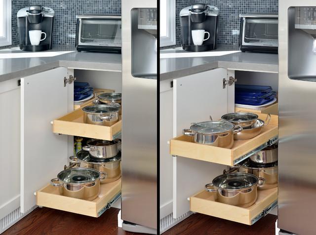 Hidden Corner Kitchen Cabinet Toronto By Gliding Shelf