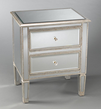 drawer mirrored bedside table eclectic nightstands and bedside tables