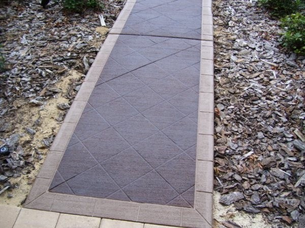 Concrete Stain And Sealer : Concrete walkway lastiseal stain sealer