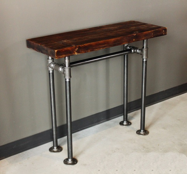 Rustic Industrial Wood amp Pipe Console Table