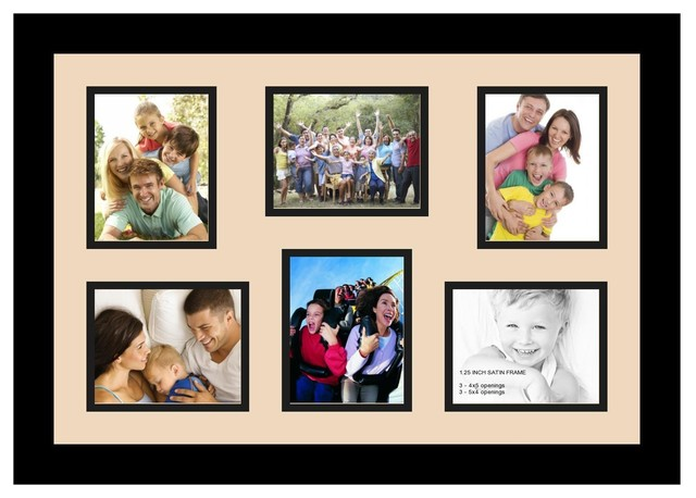 Arttoframes collage photo frame with 6 4x5 openings for Modern collage frame