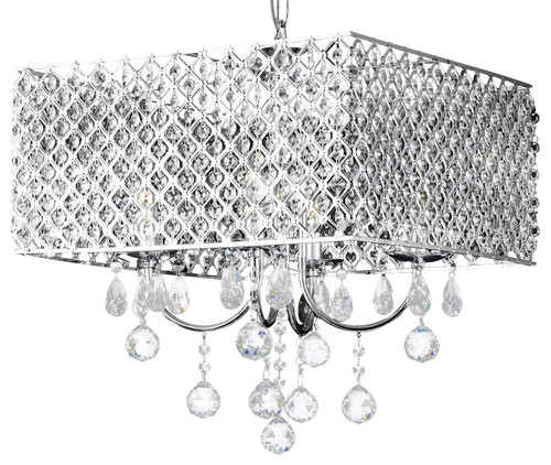 Antoinette 4 Light Square Crystal Chandelier Chrome  C2 B7 More Info