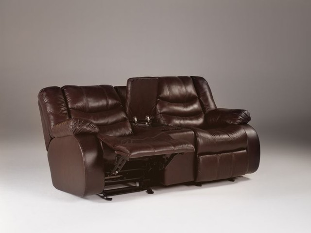 Revolution Reclining Loveseat W Console Sofas Houston By Red Tag Mattress And Furniture
