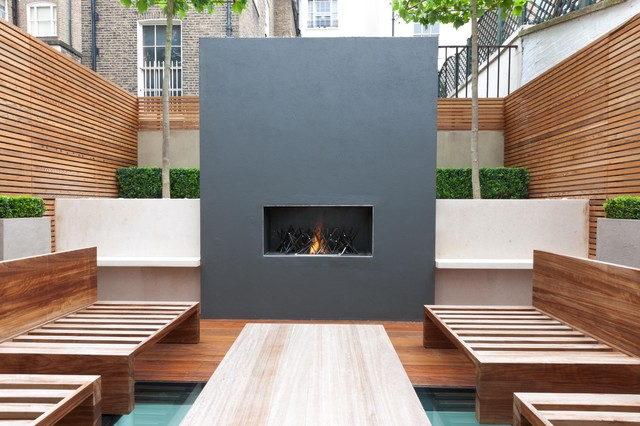Modern Outdoor South East Outdoor Fire Places modern-outdoor-fireplaces