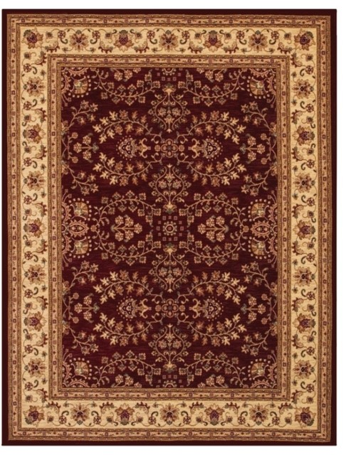 Anatolia red cream rug 28670006 traditional rugs for Cream and red rugs
