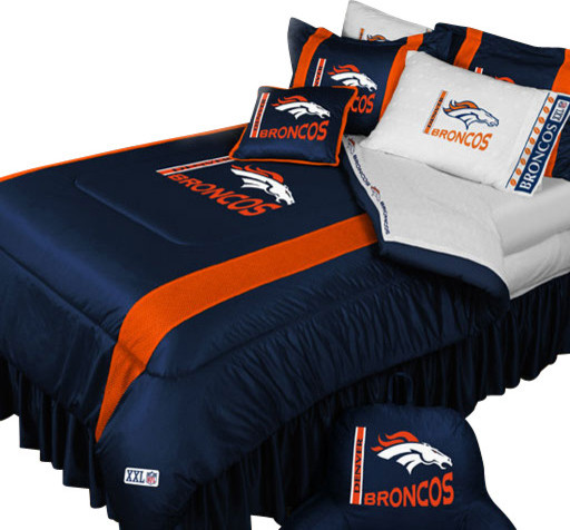 NFL Denver Broncos Football Queen-Full Bed Comforter Set ...