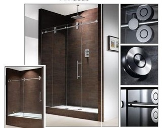 Modern Frameless Barn Style Sliding Glass Shower Door Hardware Modern Int