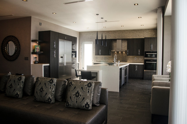 SLATE - Contemporary - Kitchen - miami - by KabCo Kitchens