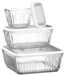 Refrigerator Storage Containers With Silicone Lids - Contemporary - Kitchen Canisters And Jars ...