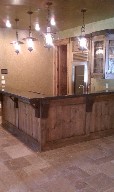 Miners Bar Rustic Basement Cleveland By Man Caves