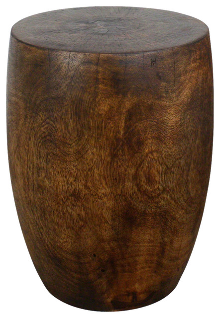 Merlot Mango Wood Table Traditional Side Tables And