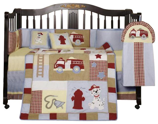 Fire Truck Crib Bedding : Baby boy fire truck pcs crib bedding set contemporary