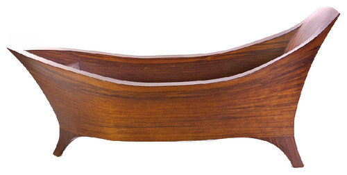 Modern Soaking Walk In Handcrafted Wood Bathtub