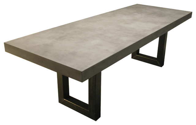 Zen Concrete Kitchen And Dining Table Contemporary