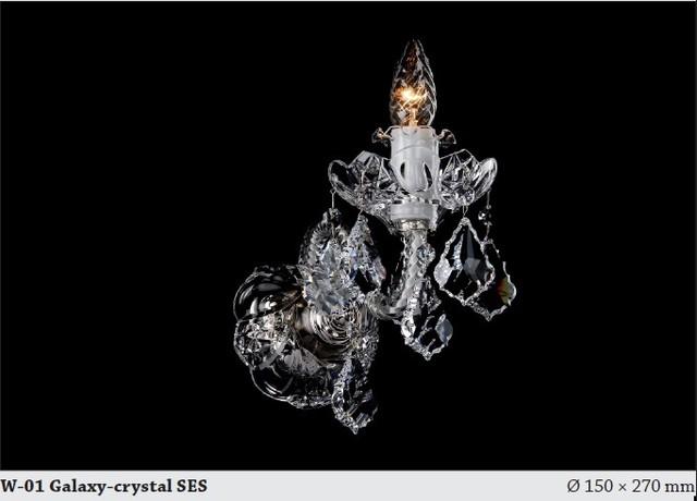 Bohemian Crystal Wall Lights : Bohemian crystal single wall sconce Chrome - Modern - Chandeliers - hobart - by Murano Art Glass ...