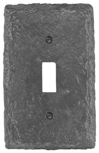 Faux Slate Gray 1 Toggle Wall Plate Eclectic Switch