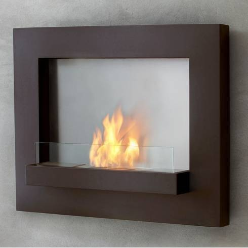 Real Flame Rust Edgerton Ventless Fireplace Contemporary