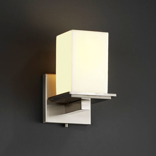 Vanity Light Bar Modern : Montana One Light Square Flat Rim Bath Bar - Modern - Bathroom Vanity Lighting - by Lightology