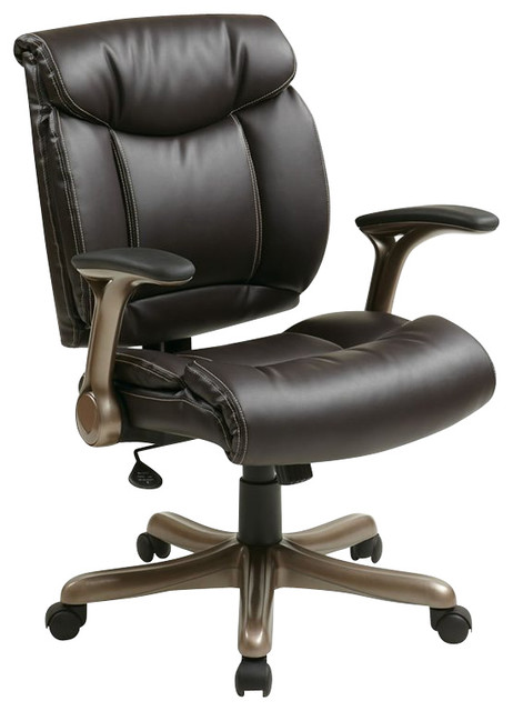 office star ech series eco leather chair in cocoa and