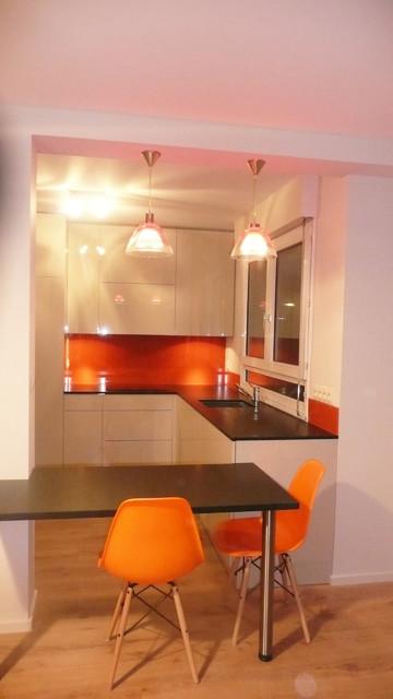 cuisine contemporaine sur lyon contemporary kitchen. Black Bedroom Furniture Sets. Home Design Ideas