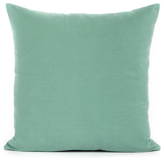 Seafoam Green Throw Pillow Cover, 16