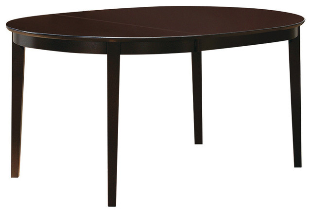 Coaster Hyde OvalRound Dining Table Cappuccino  : transitional folding tables from www.houzz.com size 640 x 438 jpeg 28kB
