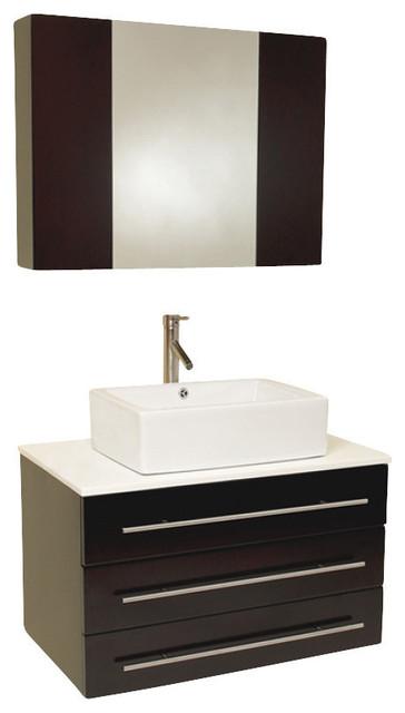 Inch Espresso Modern Bathroom Vanity Contemporary Bathroom Vanities And Sink Consoles