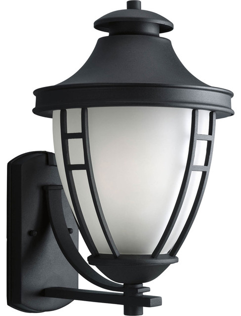 Progress Lighting P5780-31 1-Light Wall Lantern with Etched Glass - Transitional - Outdoor Wall ...