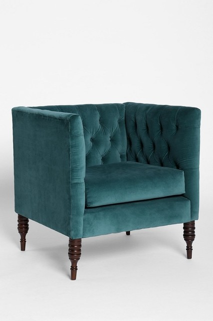 Plum Bow Tufted Chair Blue Eclectic Armchairs And Accent Chairs