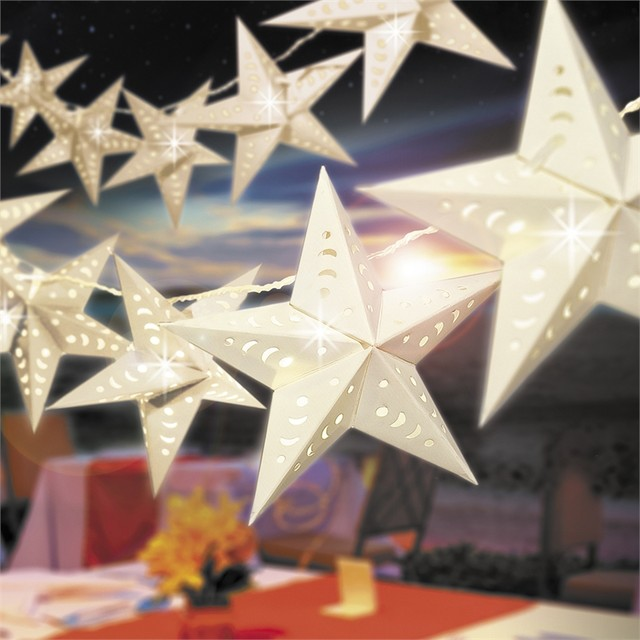 Arlec 10 Led White Star Party Light Contemporary