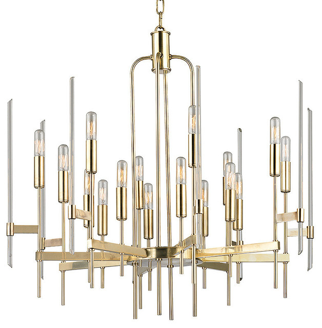 lampadari bari : Bari 16-Light Chandelier, Aged Brass - Contemporaneo - Lampadari - di ...